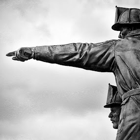 Leadership by Travis Wessel - Buildings & Architecture Statues & Monuments ( firefighter, leadership, firefighters, courage, ems,  )