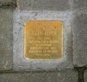 Elizabeth Lustig-Cohen - Beltstraat 28a  - Stolperstein Enschede