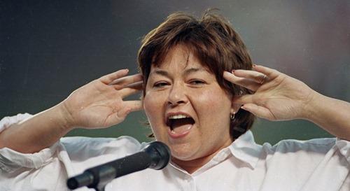 roseanne barr sings national anthem off key