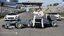Mercedes W04 with Lewis Hamilton & Nico Rosberg