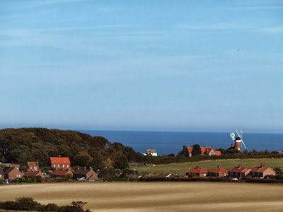 Looking over to Weybourne mill from Kelling Heath