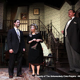 Matthew Surman, Sara Fittizzi and Robert Hegeman in ARSENIC AND OLD LACE (R) - May 2011.  Property of The Schenectady Civic Players Theater Archive.