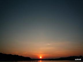 2009/8/27の見事な夕日です。