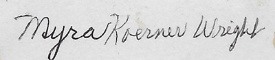 Myra Koerner Wright Eliz ant back