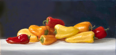 peppers, still life, original fine art