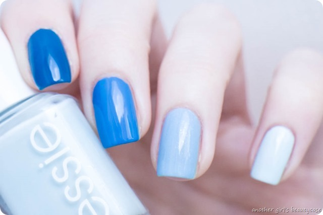 paintintospring ombre blue essie swatch nailart_
