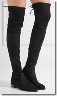 Stuart Weitzman Lowland Stretch Suede Rubber Sole Over the Knee Boot