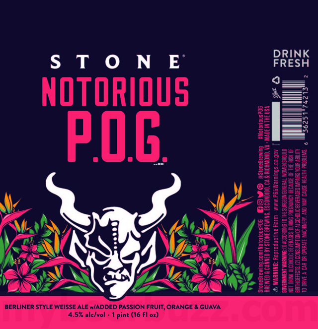 Stone Adding Notorious P.O.G. Berliner Weisse 16oz Cans