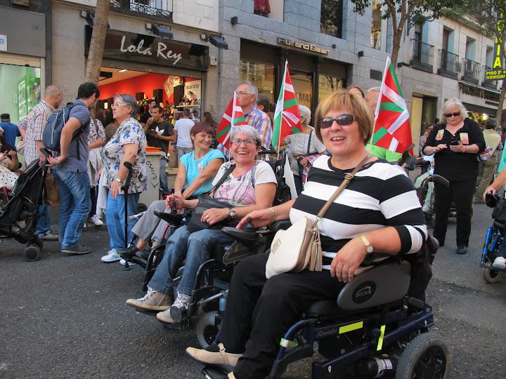 Mujeres del País Vasco en una marcha del Foro de Vida Independiente'