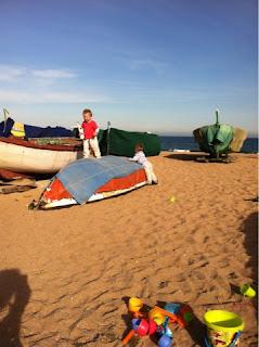 Las barcas de la playa de Badalona