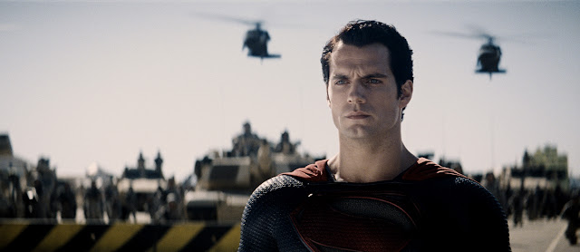man of steel superman surrounded by army