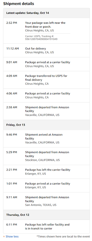 Amazon Delivery Tracking