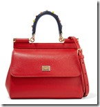 Dolce & Gabbana red leather top handle bag