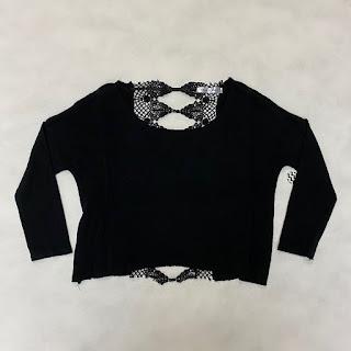 Cindigindi Black Backless Sweater