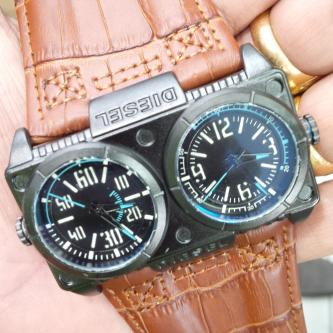 Jam Tangan DIESEL dual time brown