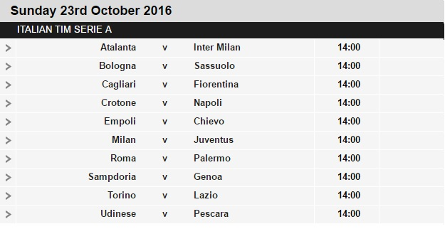 Serie%2BA%2Bschedule%2B9 Planning a Football Trip to Italy - SERIE A FIXTURES 2016/17