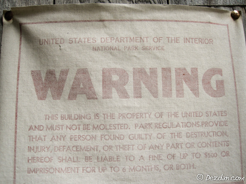 No Molesting Dam Cabins!