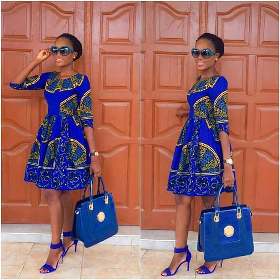 SHORT BLUE DRESS DESIGNS FOR AFRICAN WOMEN 1