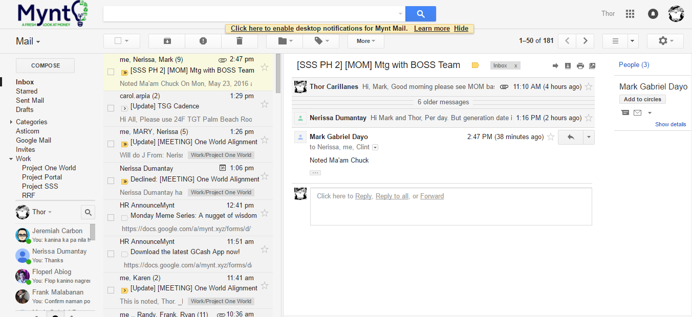 Gmail theme issue