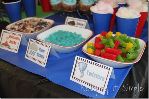 Boy Birthday Party Idea Natural Disasters Party with Experiments