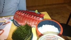 本マグロ中落ち手巻き寿司