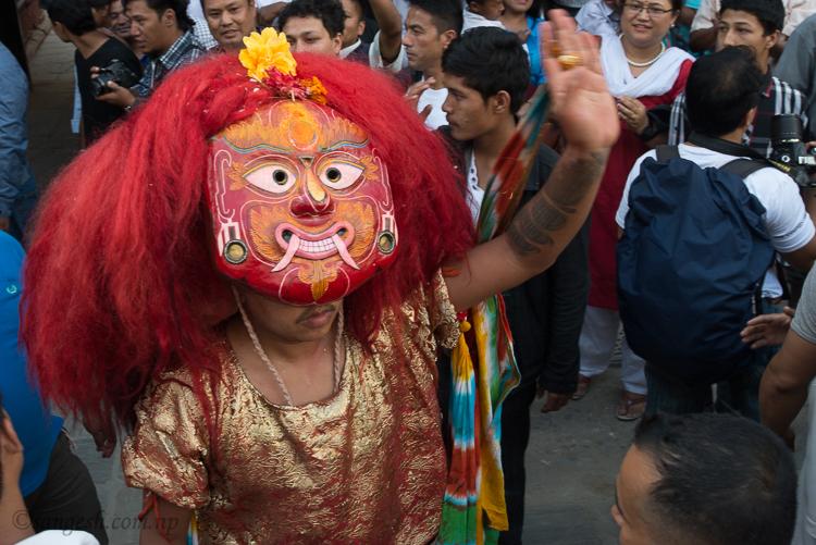 Lakhe, dance, kumari, jatra, indra