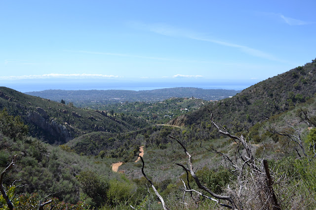 looking out of Mission Canyon from Tunnel Trail