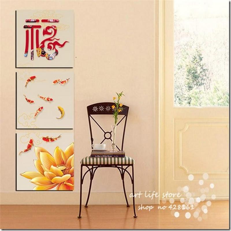 ภาพกรอบลอย ปลาคาร์ฟ เสริม ฮวงจุ้ย มงคล โชคลาภ ความสวยงามแก่บ้าน 22