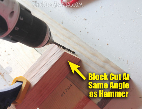 How to drill a hole at a precise angle