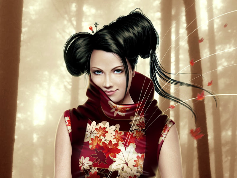 Fantasy Sakura, Magic Samurai Beauties