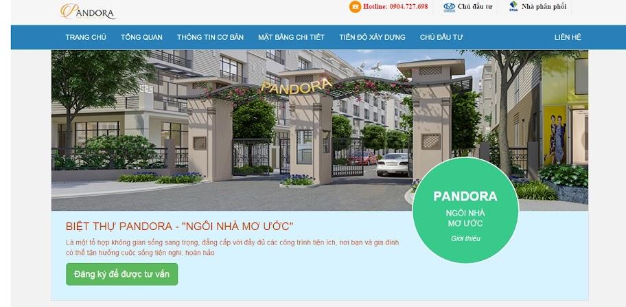 Website bất động sản dự án BDSDA