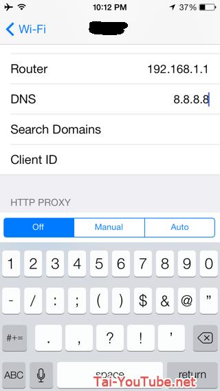 Hình 3 - Hướng dẫn cách đổi DNS cho iPhone, iPad nhanh