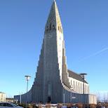 the famous hallgrímskirkja in Reykjavik, , Iceland