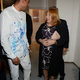 OIC - ENTSIMAGES.COM - Omar Hassan The Artist and Kellie Maloney at the Omar Hassan - Breaking Through, Private View at ContiniArtUK in London 23rd April 2015 Photo Mobis Photos/OIC 0203 174 1069