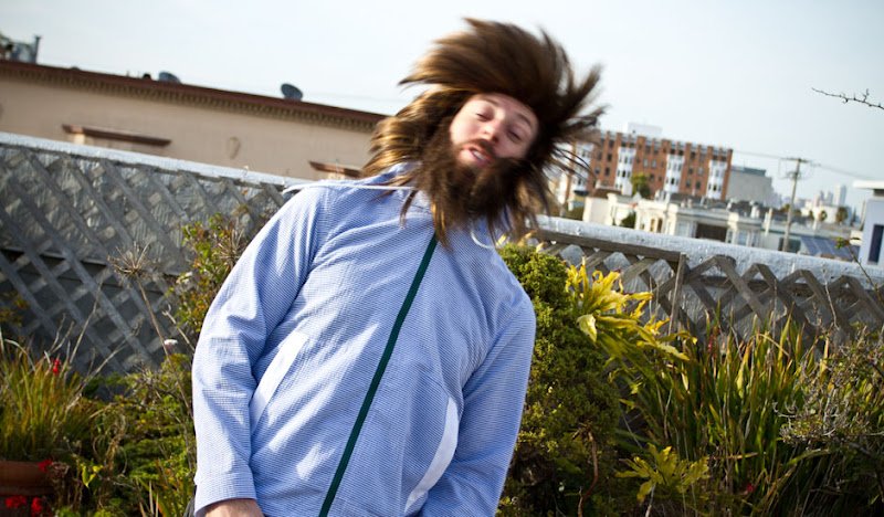A Wigged Ben Flip his monstrous hair in a Seersucker Hoodie