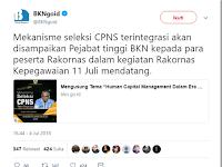BKN Akan Umumkan Mekanisme Seleksi CPNS 2018 pada Rakornas 11 Juli 2018