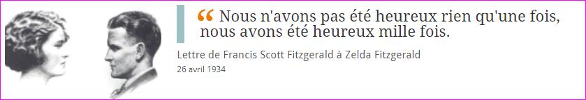 Lettre de Francis Scott Fitzgerald à Zelda Fitzgerald