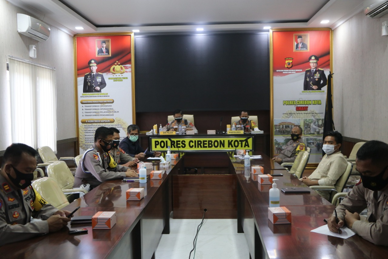 Kapolres Cirebon Kota dan Dir Polair Polda Jabar, Hadiri Giat Vicon