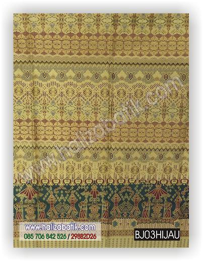 Baju Batik Muslimah, Batik Kantor, Batik Seragam, BJ03 HIJAU