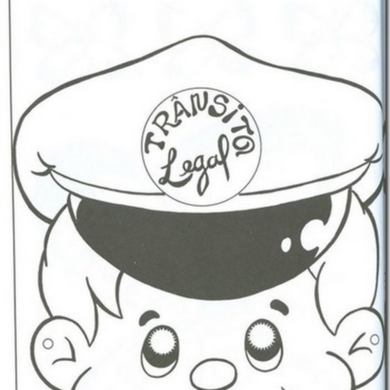 máscara de policia