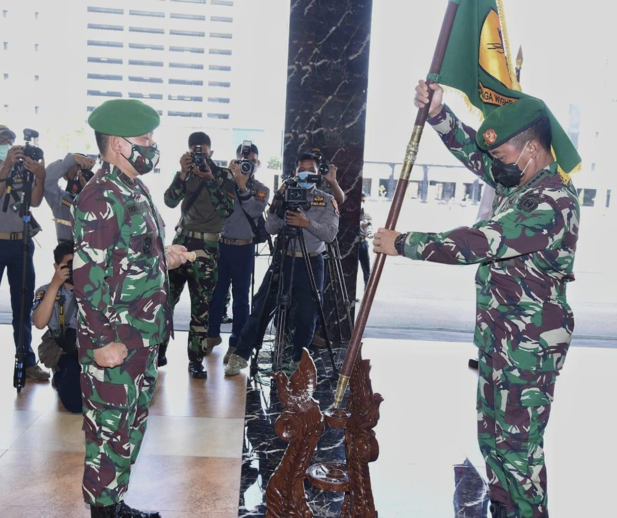 Kasad Pimpin Alih Kodal Yonzikon 11/DW dan Laporan Korps 19 Perwira Tinggi TNI AD