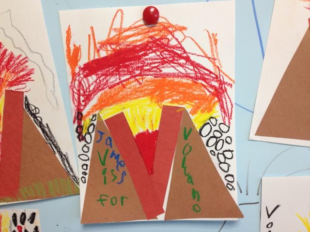 volcano crafts for preschoolers alphabet letter craft v is for volcano color me sweet 765