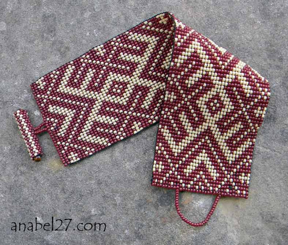 Браслет из бисера с этническим орнаментом Anabel