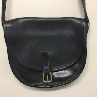 Coach Black Buckle Bag