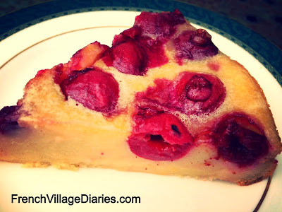 French Village Diaries recipes cherry flan aux cerises homegrown homemade