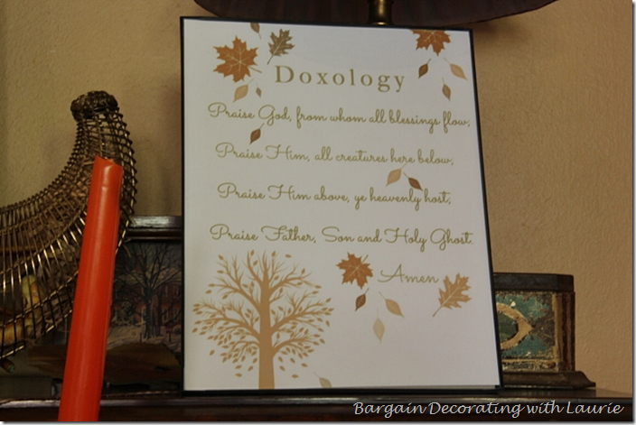 Doxology Print for Thanksgiving Decor