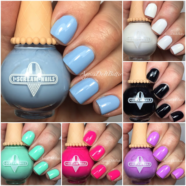 Aggies Do It Better: I Scream Nails swatches and brand review