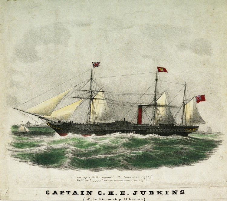 Litografia del HIBERNIA. National Maritime Museum of Greenwich.jpg