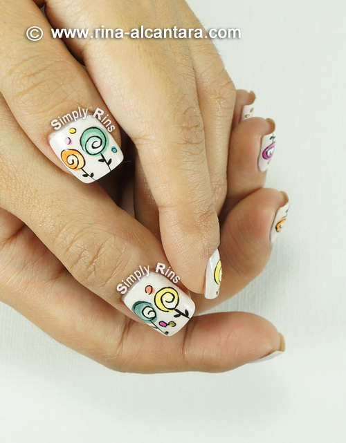 Happy Mother's Day Nail Art Design - Thumbs