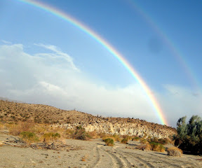 The storm that blew through Anza Borrego resulted in some intense rainbows